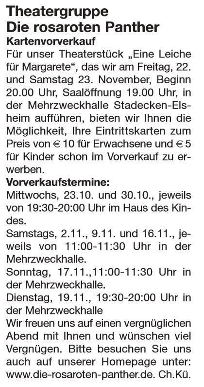 Artikel im Nachrichtenblatt VG Nierder-Olm vom 10.10.2013